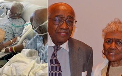 Milující pár se držel za ruce v nemocnici, oba měli koronavirus. Pár dní po zhotovení fotky nemoci podlehli