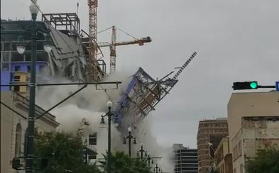 Minimálně dva mrtví a 20 zraněných, v New Orleans se zřítil rozestavěný hotel. Lidé utíkali před padajícími troskami