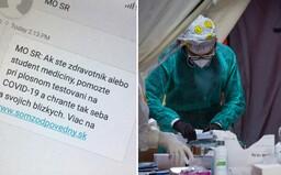 Ministerstvo obrany SR rozosiela SMSky do slovenských mobilov. Hľadajú zdravotníkov a študentov medicíny
