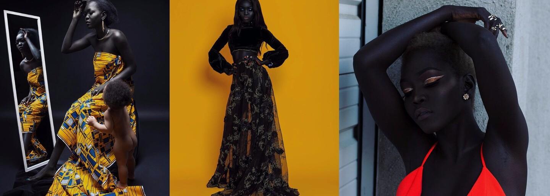 Mladá modelka je na svoju mimoriadne tmavú pokožku hrdá. Melanínová kráľovná zachytáva pohľady ľudí všade, kam príde