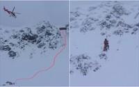 Mladý lyžař v Tatrách strhnul lavinu, zachraňovali ho vrtulníkem