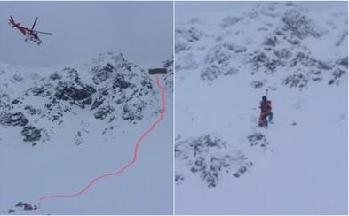 Mladý lyžiar v Tatrách spustil lavínu, ktorá ho stiahla do kotla. Slováka zachraňovali vrtuľníkom
