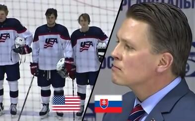 Mladým hokejistom USA pustili slovenskú hymnu