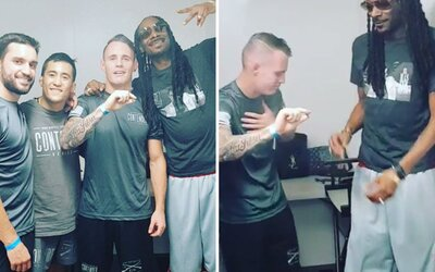 MMA bojovník poprvé zkusil marihuanu rovnou se Snoop Doggem. Tvrdý muž měl s kouřením menší problémy