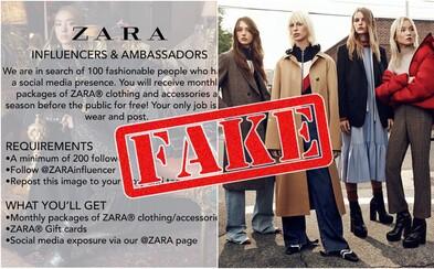 Mnohí Slováci opäť naleteli na falošnú súťaž. Instagram posledné dni totiž ovládajú potenciálni Zara influenceri