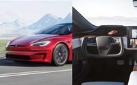Model S Plaid s výkonem 1 020 koní je oficiálně představen, první video ukazuje absurdnost jeho ovládání