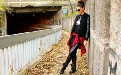 Modelka a moderátorka Soňa Skoncová pózovala po Bratislave aj v Givenchy