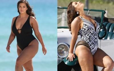 Modelka Ashley Graham použila v kampani neretušované fotky od paparazziů. Autentický pohled na její tělo si fanouškové zamilovali