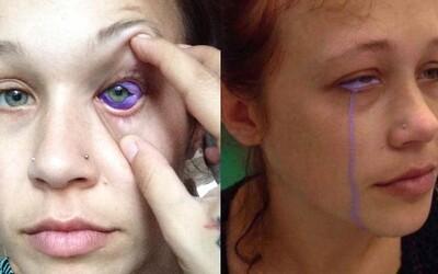 Modelka, které přítel zničil tetováním oko, zoufale žádá o jeho vyjmutí z hlavy. Její život se stal noční můrou