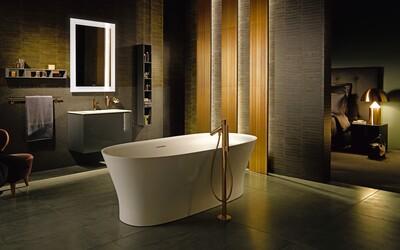 Moderní koupelna potřebuje odvážné odstíny i vybavení