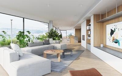 Modernou dýchajúci penthouse s nekonečným výhľadom na dominanty Prahy a kalifornskou atmosférou