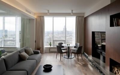 Moderný podkrovný apartmán s panoramatickým výhľadom na centrum Moskvy