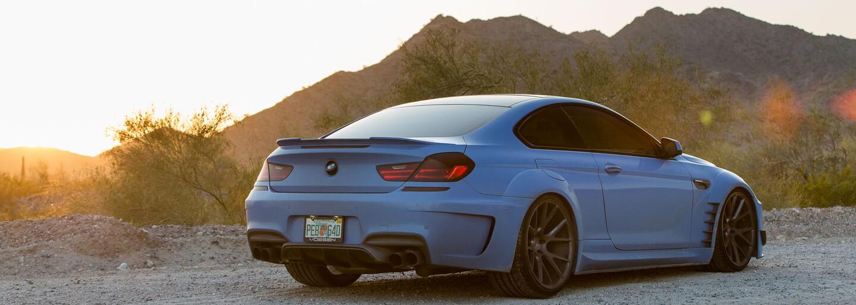 Modrá beštia v podaní BMW 650i s Vossen Wheels a bodykitom od Prior Design