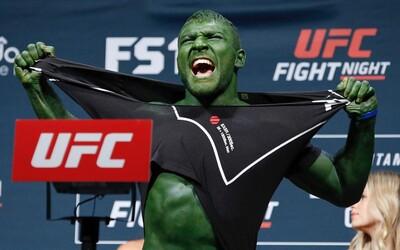 Moldavský bojovník, prezývaný aj Hulk, neostal svojej povesti nič dlžný. Na váženie totiž prišiel od hlavy až po päty zelený