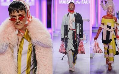 Mólo na týždni módy v New Yorku ovládli igelitové tašky. Zoznámte sa s kreatívnou dvojicou z MAISON the FAUX