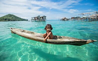 Morskí Cigáni: Ľudia v Malajzii tráviaci celý svoj život na mori bez styku s civilizáciou. Aj napriek tomu sú šťastní