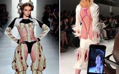 Motiv vagíny ovládl výjimečnou přehlídku na newyorském Fashion Weeku. Ženský pohlavní orgán se objevoval všude, kde to šlo
