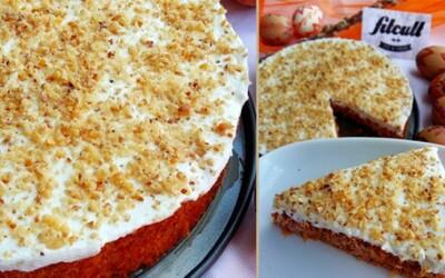 Mrkvový dort s vanilkovým tvarohem a nízkým počtem kalorií (Recept)