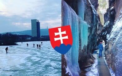 Mrzne aj na Slovensku! Na bratislavskej Kuchajde sa korčuľuje a Jánošíkove diery vyzerajú ešte rozprávkovejšie ako obyčajne