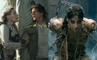 Mumie v nových záběrech nabitých akcí bojuje s Tomem Cruisem a poodhaluje nám další střípky z děje
