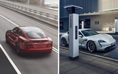 Muskova veľká výzva: Tesla Model S vs. Porsche Taycan na Nürburgringu
