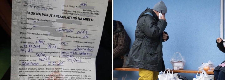 Muž dostal pokutu za zákaz vychádzania napriek tomu, že nemá domov. Polícia prípad prešetrí