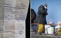 Muž na Slovensku dostal pokutu 100 eur za porušení zákazu vycházení přesto, že nemá domov. Policie případ prošetří