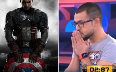 Muž přišel o výhru v soutěži i přesto, že měl odpověď napsanou na tričku. Možnost Kapitán Amerika nakonec nezvolil