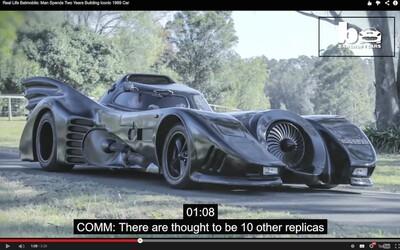 Muž si za 2 roky vyrobil Batmobil na běžné cesty