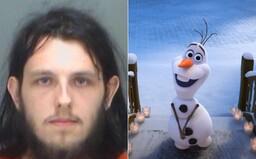 Muž vešel do obchodu a začal kopulovat s plyšovým Olafem z pohádky Frozen
