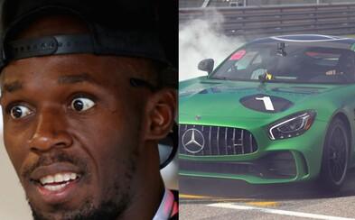 Myslel si, že zomrie. Najrýchlejšieho muža planéty Usaina Bolta zviezol Lewis Hamilton a jamajský šprintér chcel veľmi rýchlo vystupovať