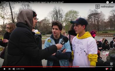 Na Bratislavskej rozlúčke s raperom Lil Peepom sme zisťovali, ako ľudia vnímajú propagáciu drog v textoch a čo vedia o Xanaxe (Video)