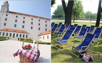 Na Bratislavskom hrade sprístupnili bezplatnú oddychovú zónu. Piknikových nadšencov čakajú pohodlné ležadlá či sprístupnená Wi-Fi