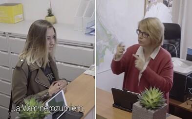 Na bratislavský miestny úrad prepašovali skryté kamery. Keď na návštevníkov začala pani so znakovou rečou, vzniklo mnoho vtipných situácií