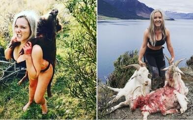 Na Instagramu se chlubí mrtvými zvířaty, lidé jí proto vyhrožují smrtí