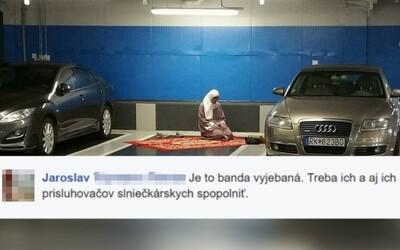 Na internete sa zjavila fotomontáž moslimky modliacej sa v Auparku. Slováci aj tak pohotovo prejavili nenávisť
