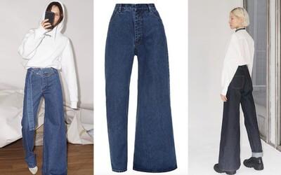 Na jednej nohe úzke, na druhej široké. Ukrajinskí dizajnéri ponúkajú asymetrické džínsy za 330 €