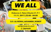 Na již 17. edici party We All si užijete trojici DJs, kteří budou hrát v rytmu rapu a funku
