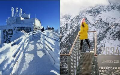 Na Lomnickom štíte namerali rekordných - 28,5 °C. Pocitová teplota bola takmer dvojnásobne nižšia