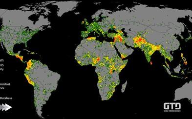 Na mapě terorismu nechybí ani Česko. Největší zločiny se odehrávají na Středním východě i v Africe