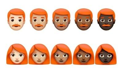 Na naše zařízení zavítají emoji se zrzavými vlasy. Petici podepsaly desítky tisíc lidí