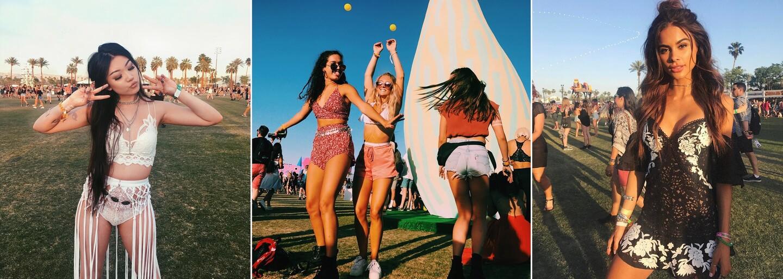 Na oblíbeném festivalu Coachella zazářily i méně známé krásky, které okouzlí nejen svými outfity