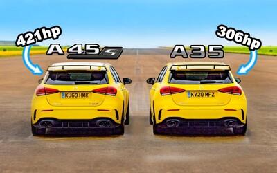Na pohled stejné, měření sil však ukázalo evidentní rozdíl mezi áčkovými AMG