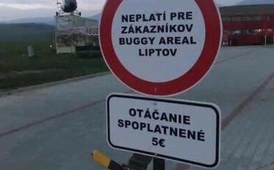 Na Slovensku od teba vypýtajú 5 € aj za otáčanie. Podnikateľské myslenie z Liptova teraz zabáva internet