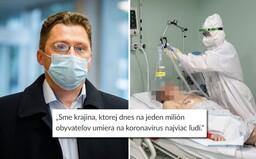 Na Slovensku zomiera na Covid-19 najviac ľudí na svete na 1 milión obyvateľov, varuje lekár Visolajský
