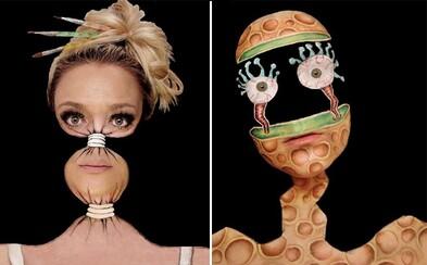 Na svojom tele vytvára dokonalé optické ilúzie. Innes dala maľovaniu na tvár celkom nový rozmer