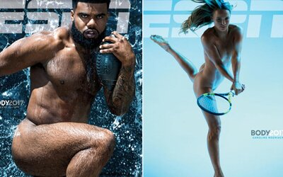 Na titulce magazínu ESPN se objevila nahá Caroline Wozniacka i hráč z NFL. Někteří lidé však měli s obnaženými sportovci značný problém