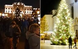 """Na vianočných """"trhoch"""" v Bratislave sa stretli tisícky ľudí pri varenom víne či lokšiach. Pandémia koronavírusu akoby neexistovala"""