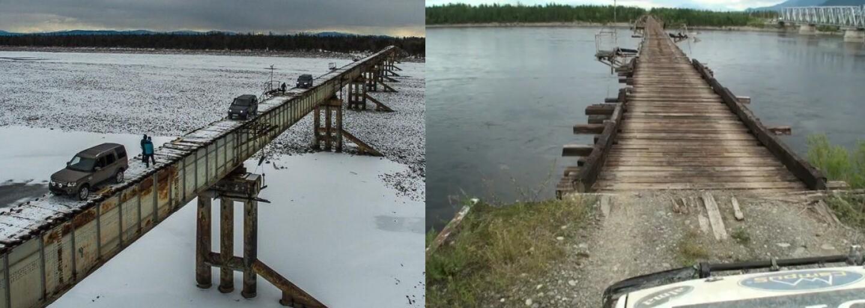 Na zimomriavky stačí pohľad. Most na Sibíri patrí medzi to najextrémnejšie, čím si ľudia skracujú cestu do miest