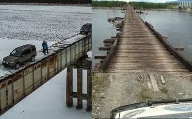 Na husí kůži stačí pohled. Most na Sibiři patří mezi to nejextrémnější, čím si lidé zkracují cestu do měst